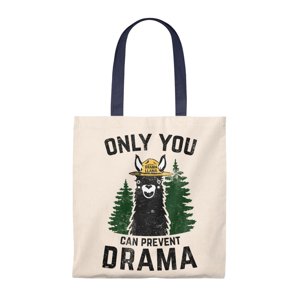 Tote Bag - Vintage Only You Can Prevent Drama Llama Smokey Bear Parody-Bags-Ellas-Canvas-DesIndie