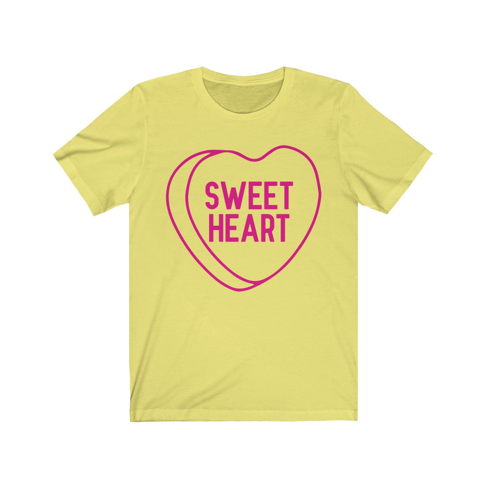 (Unisex Soft Bella) Conversational Heart Outline Costume Tee - Sweet Heart