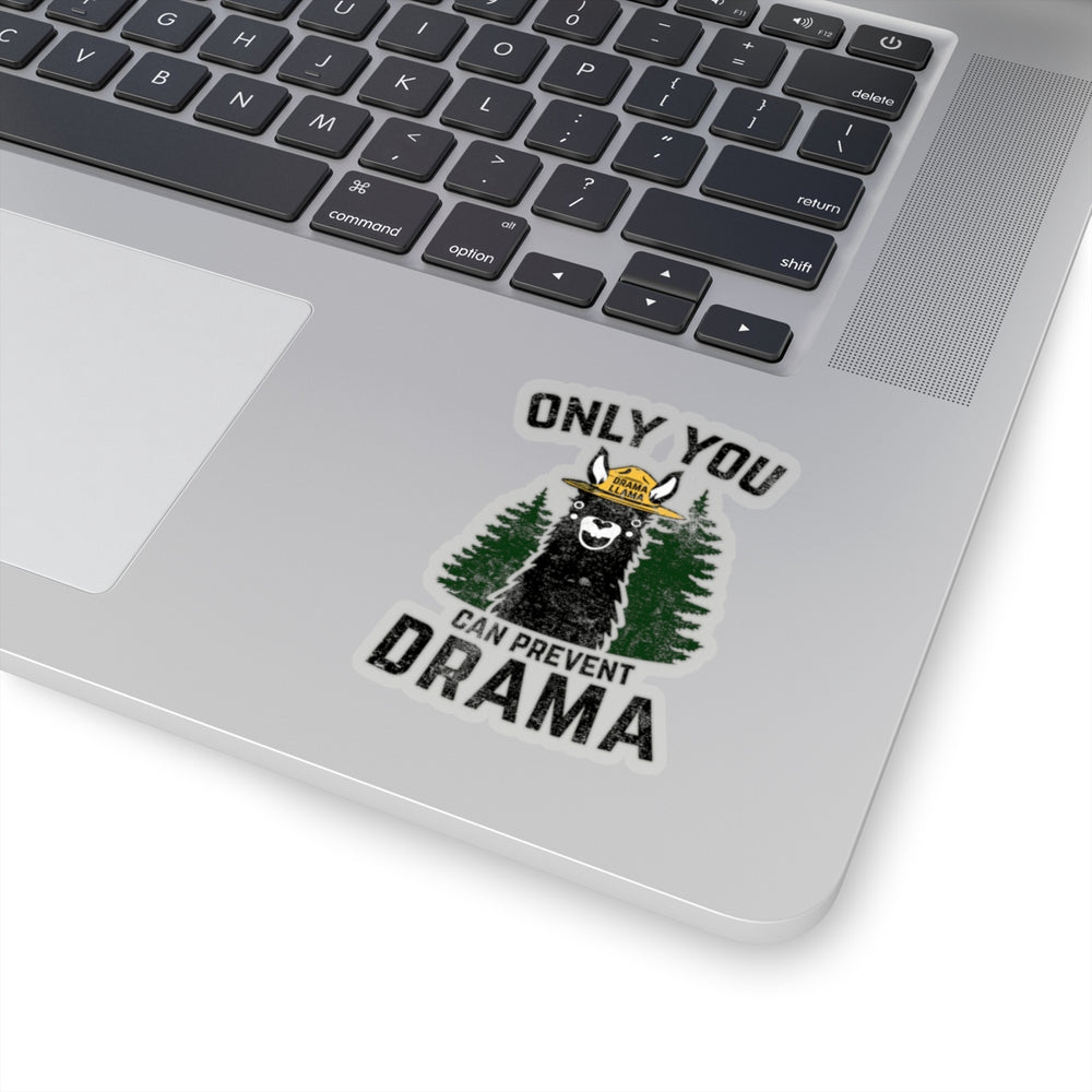Transparent Kiss-Cut Stickers - Only You Can Prevent Drama Llama Smokey Bear Parody-Paper products-Ellas-Canvas-DesIndie