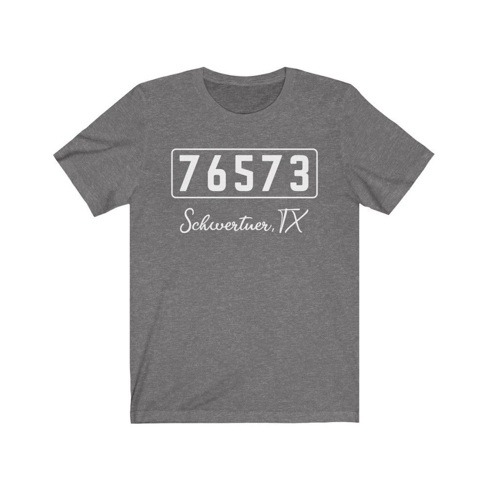 (Soft Unisex Bella) Zipcode City Name - Schwertner, TX 76573 (white)