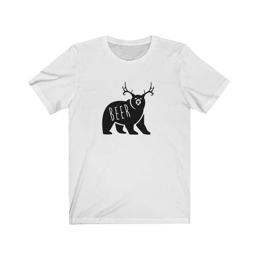 (Soft Unisex Bella) Beer Bear Deer-T-Shirt-Ellas-Canvas-DesIndie