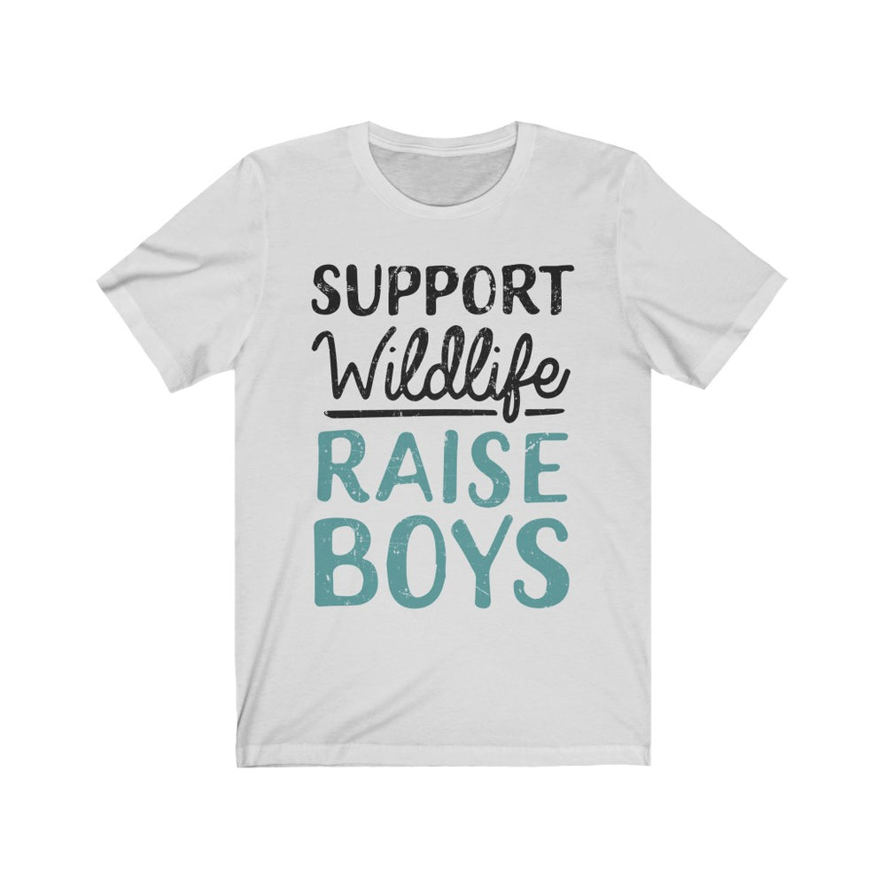 (Soft Unisex Bella) SUPPORT Wildlife RAISE BOYS (dark)