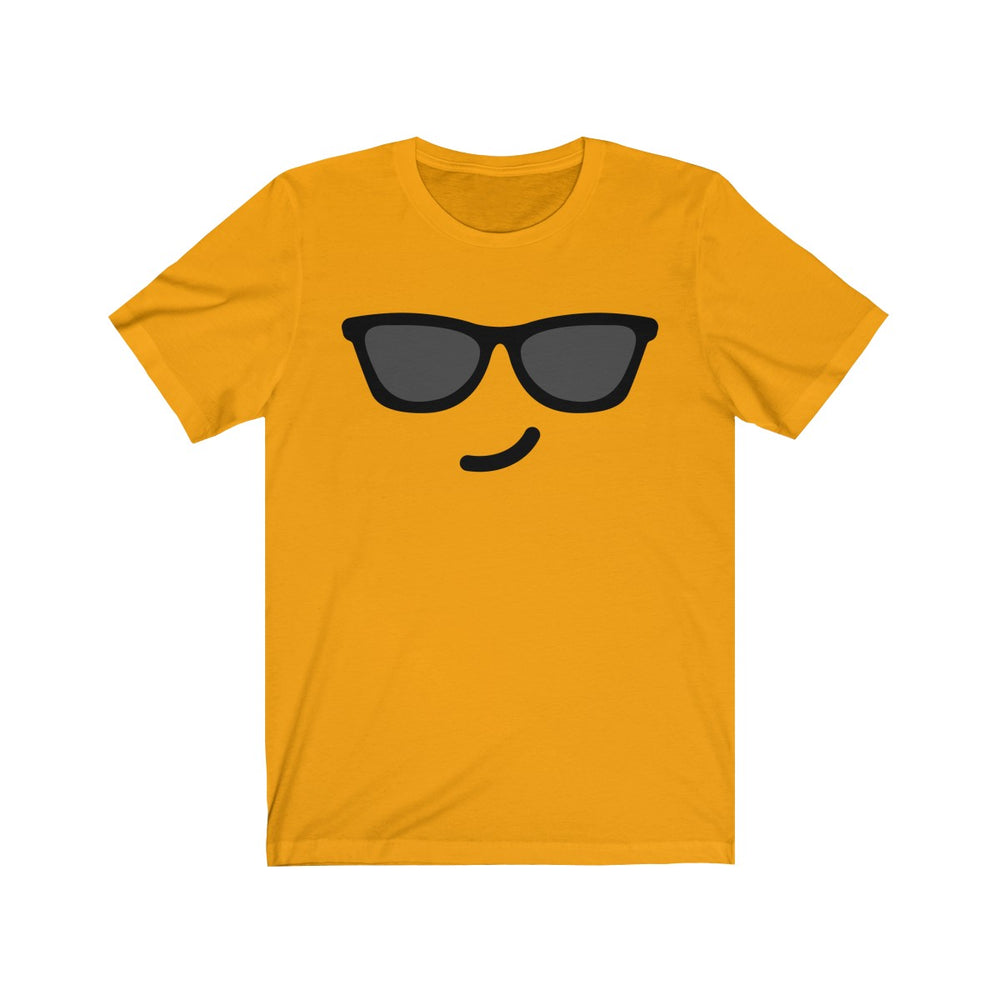 (Soft Unisex Bella) Emoji Sunglasses-T-Shirt-Ellas-Canvas-DesIndie