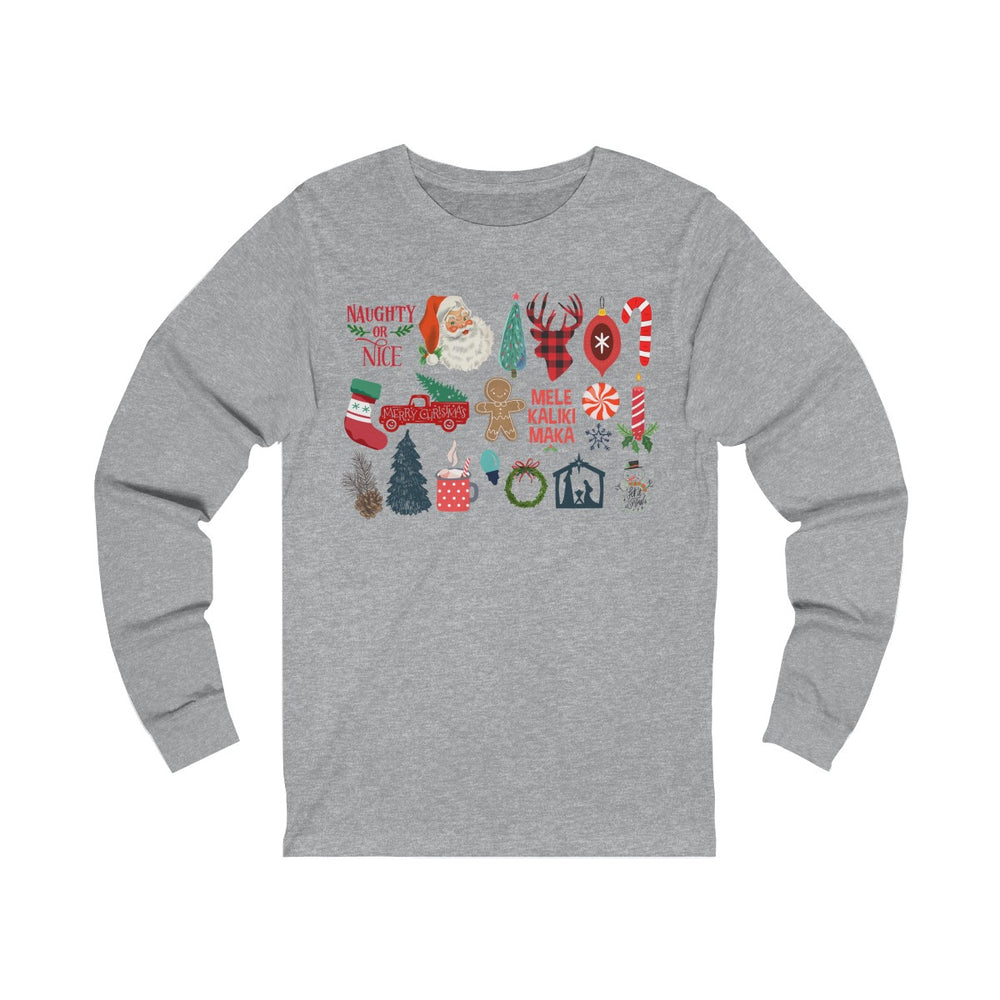 (Soft Unisex Bella Jersey Long Sleeve) It's Little Things - Christmas