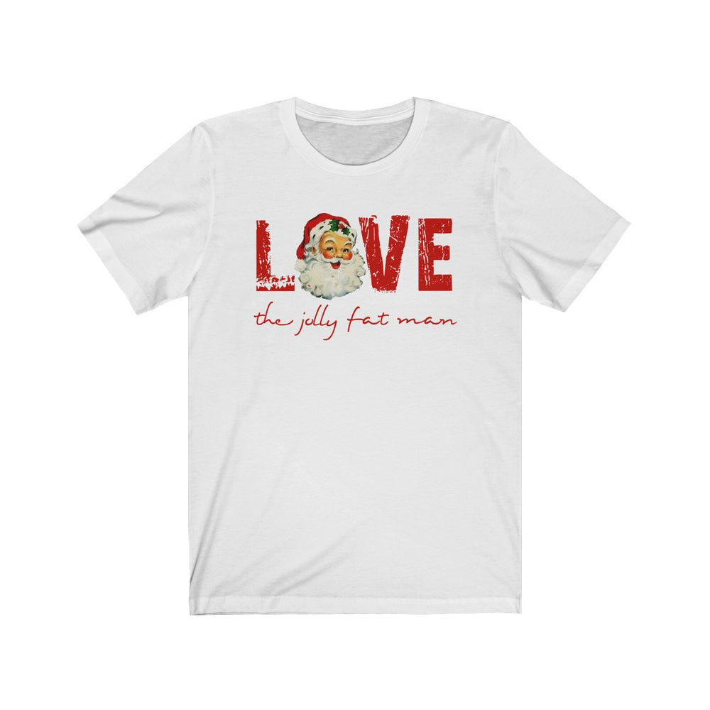 (Soft Unisex Bella) Vintage Santa Love (the Jolly Fat Man)