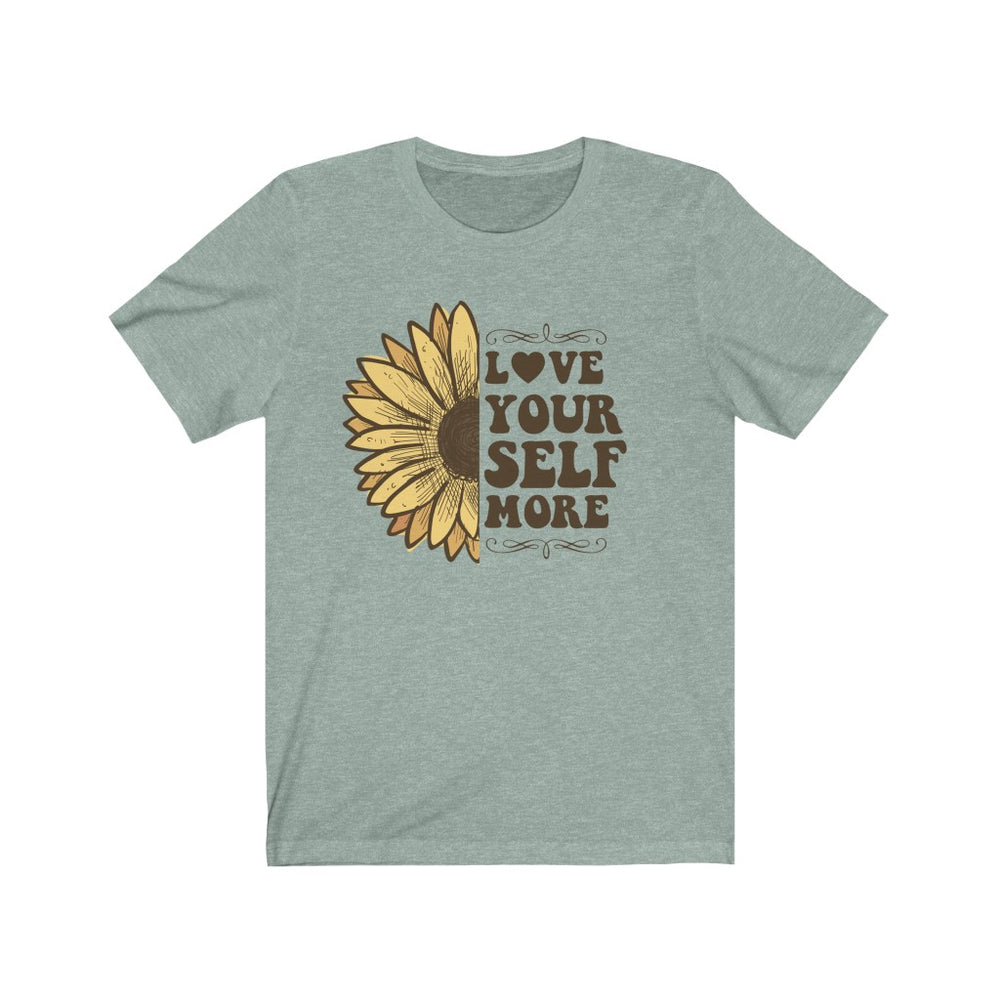 (Soft Unisex Bella) Love Your Self More Sunflower