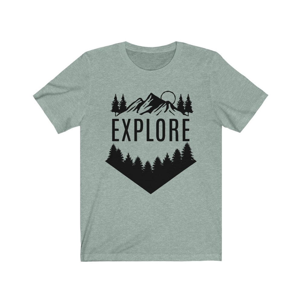 (Soft Unisex Bella - Other Colors) Explore the Outdoors Setting Rising Sun