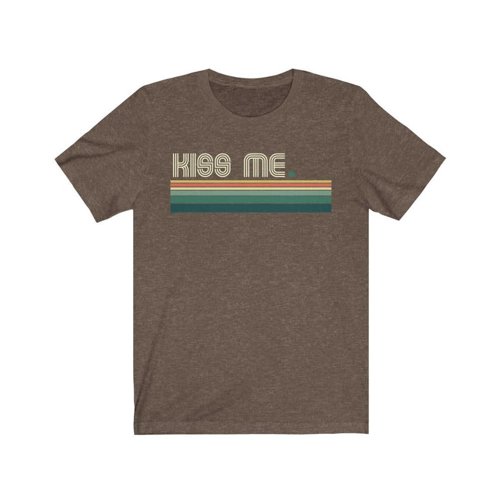 (Soft Unisex Bella - Darks) Kiss Me Irish Stripes