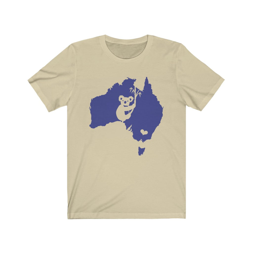 (Soft Bella Canvas) Australia - Koala Map