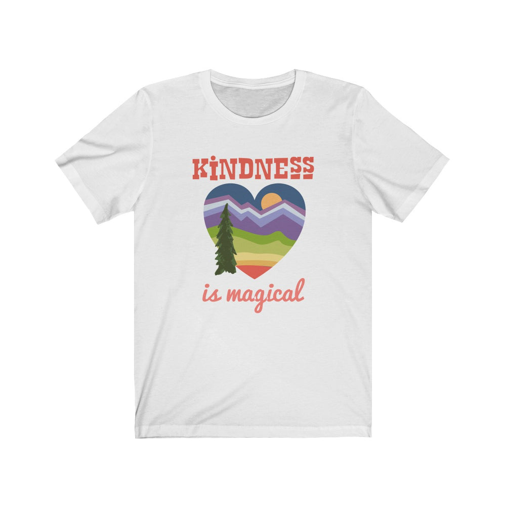 (Soft Unisex Bella) Kindness is Magical Heart Sunrise