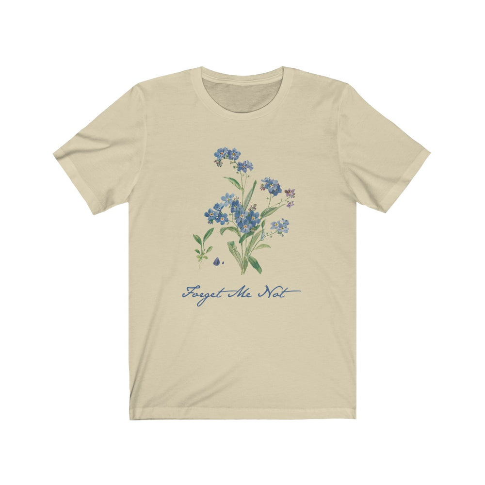 (Soft Unisex Bella) Forget Me Not Flower Floral