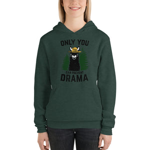 (Unisex Bell Hoodie) Only You Can Prevent Drama Llama - Smokey Bear Parody-Ellas-Canvas-DesIndie