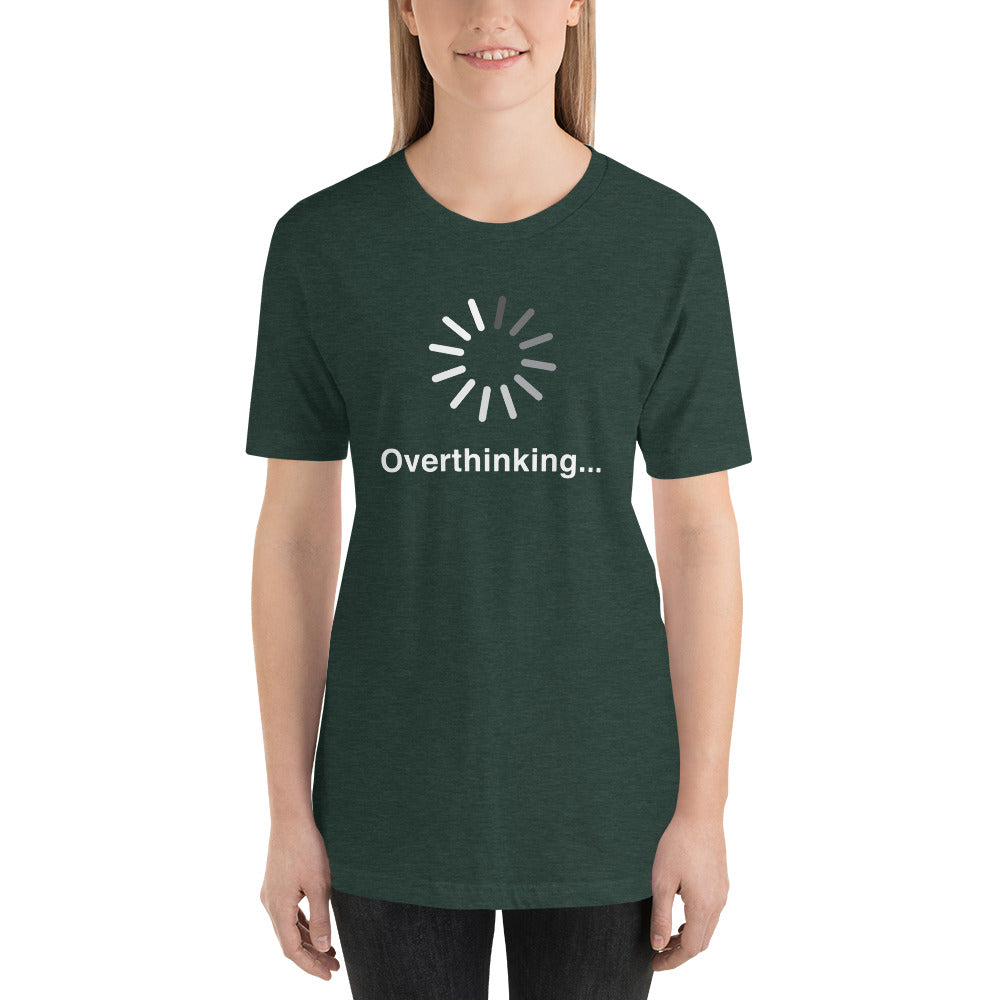 (Soft Unisex Bella - Heather Deep Teal, Orchid, Dusty Blue, Forest) Overthinking...