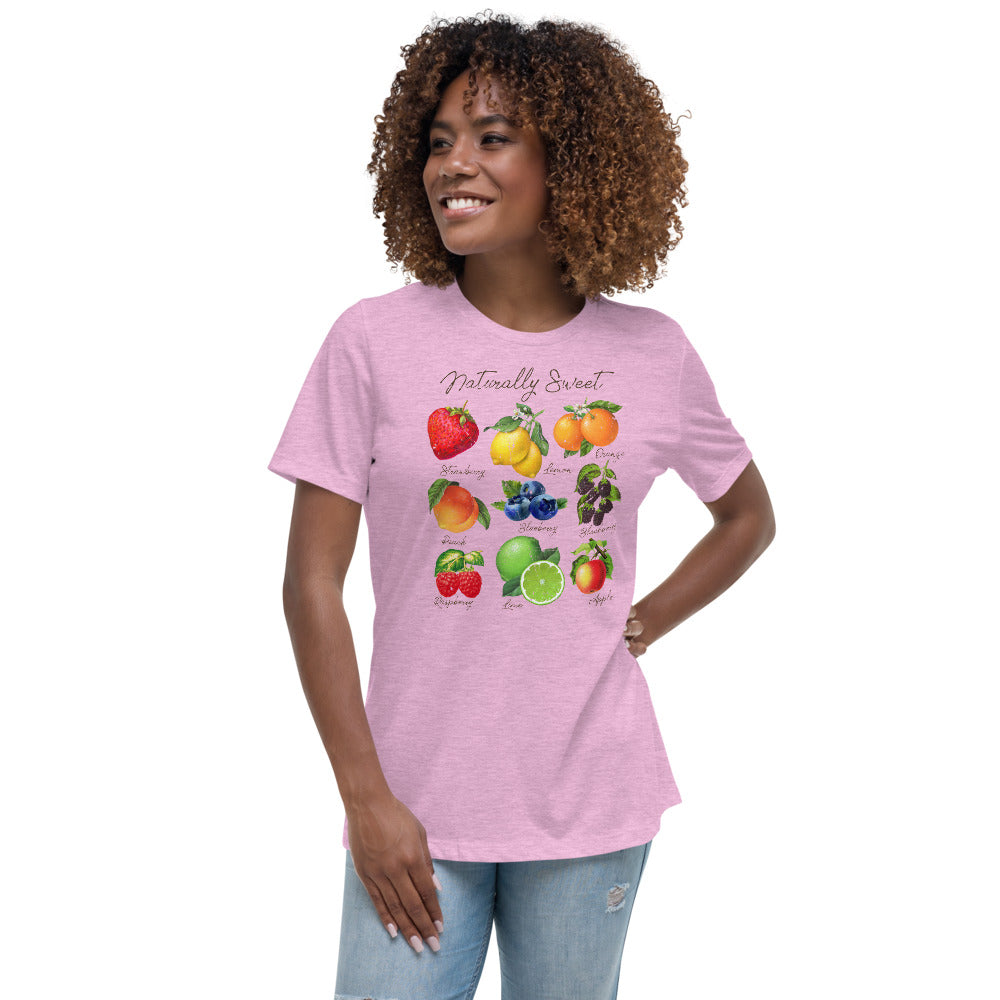 (Women's Relaxed Bella Jersy) Naturally Sweet Fruits