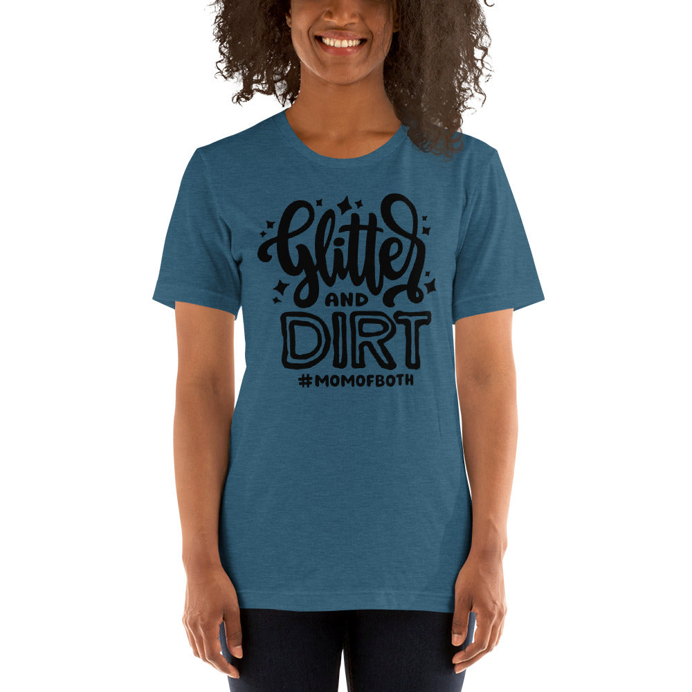 (Soft Unisex Bella - Heather Deep Teal, Orchid, Dusty Blue, Forest)  Glitter & Dirt #momofboth