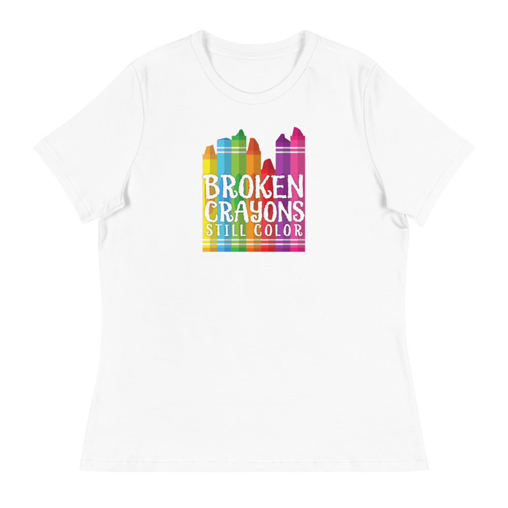 Broken Crayons Still Color Women's Relaxed T-Shirt