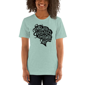 (Soft Unisex Bella - Heather Deep Teal, Orchid, Dusty Blue, Forest) Empower Women