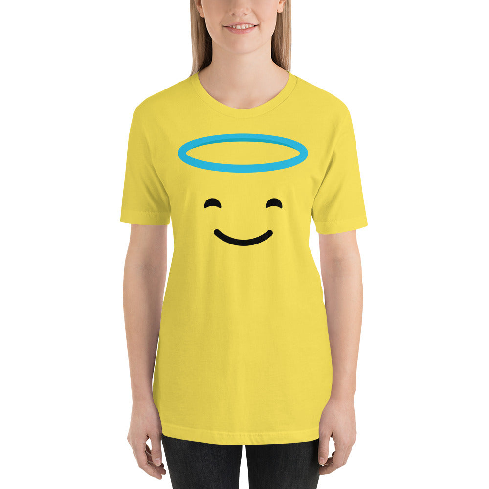 (Soft Unisex Bella) Angel Emoji Smile-Ellas-Canvas-DesIndie