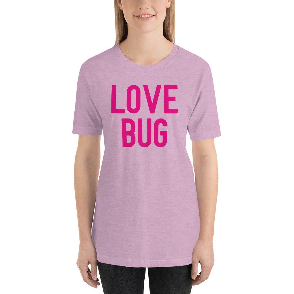 (Soft Unisex Bella) Conversational Candy Hearts Valentine - LOVE BUG