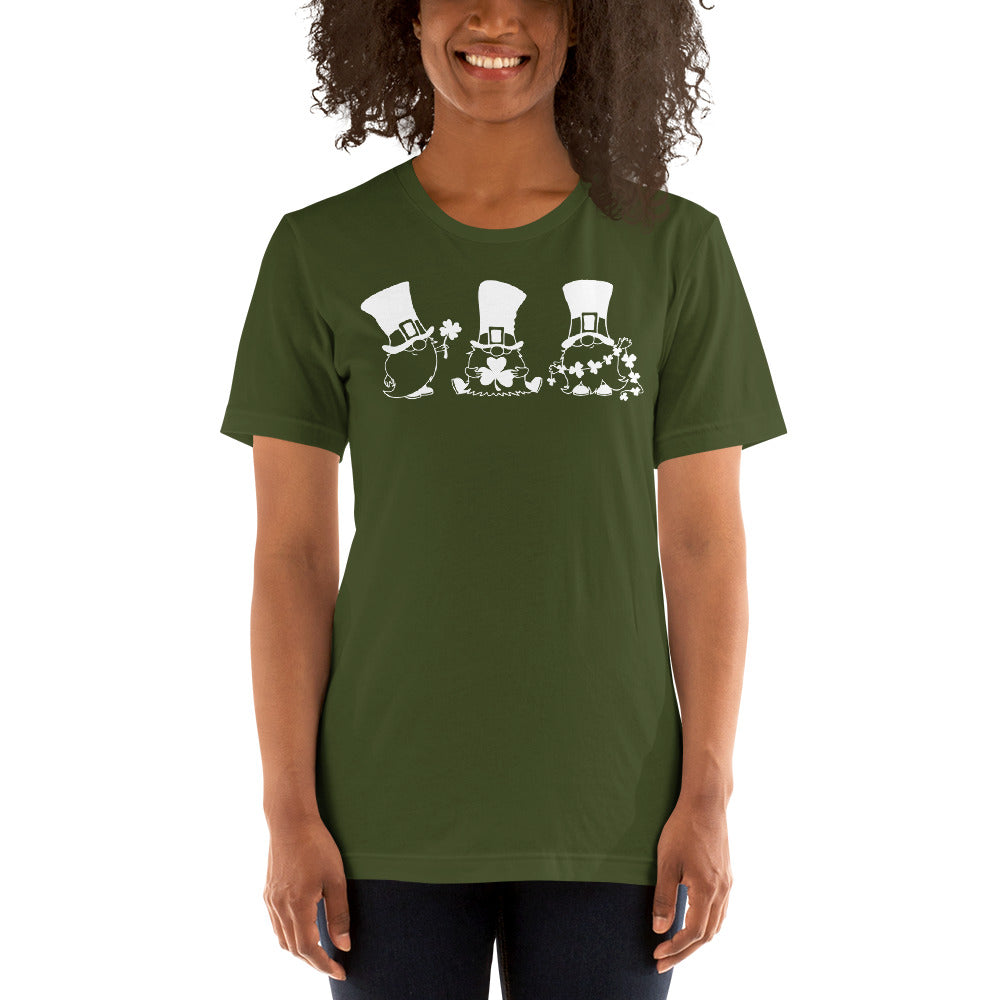 (Soft Unisex Bella - Other Greens) 3 Leprechauns St. Patrick's Day