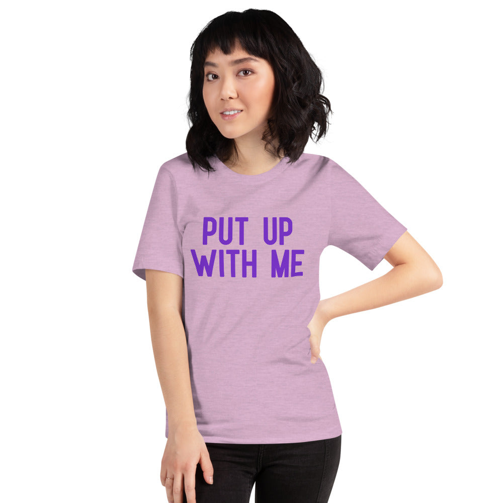 (Soft Unisex Bella) Conversational Candy Hearts Valentine - PUT UP WITH ME