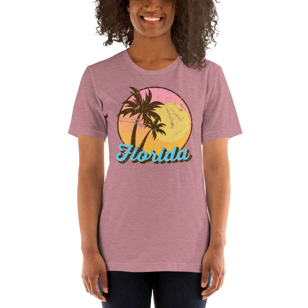 (Soft Unisex Bella - Other Colors) Florida Palm Sunset