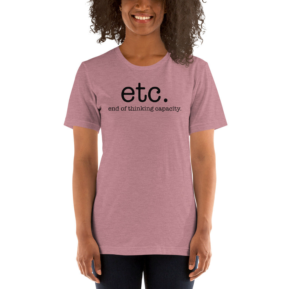 (Soft Unisex Bella) etc. End of thinking capacity.
