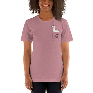 (Soft Unisex Bella) Llama Mia Fake Pocket (Dusty & Orchid)-Ellas-Canvas-DesIndie