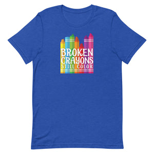 Broken Crayons Still Color T-shirt 2