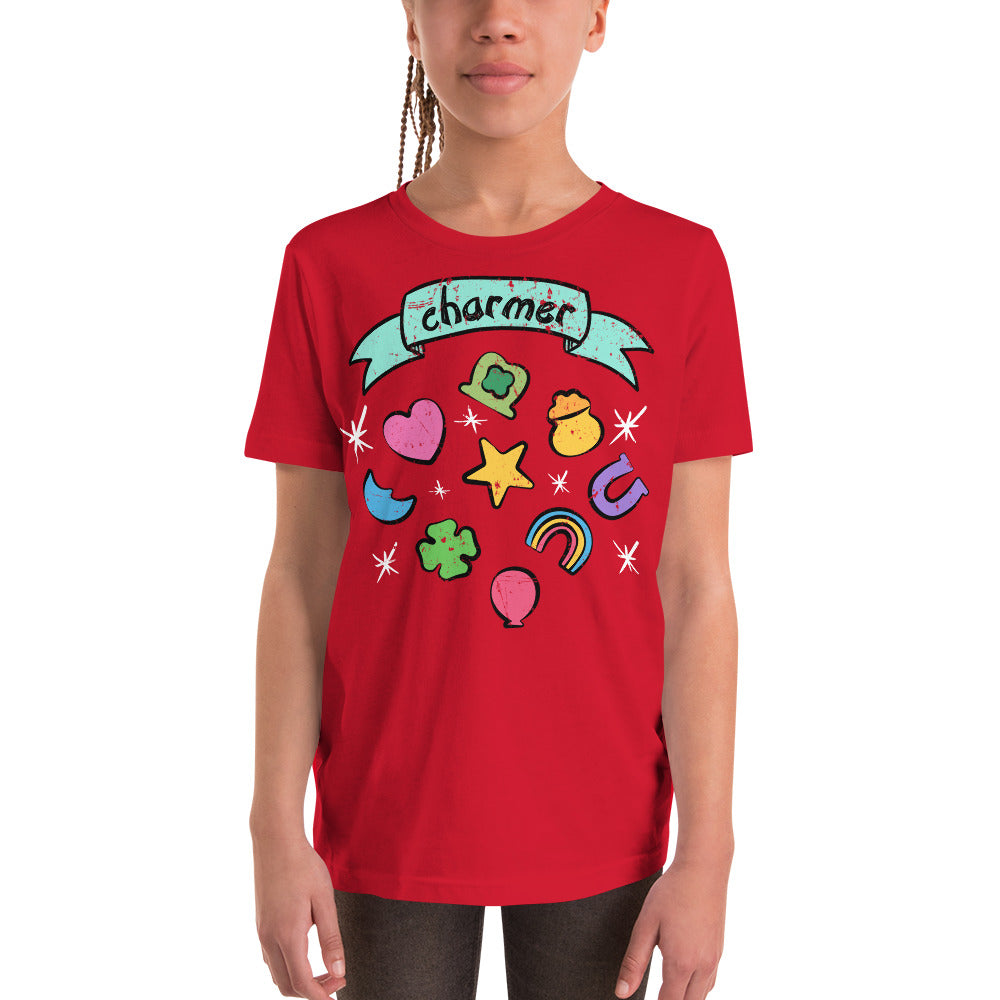 (Bella Youth Tee) - Charmer Marshmallow Lucky Charm