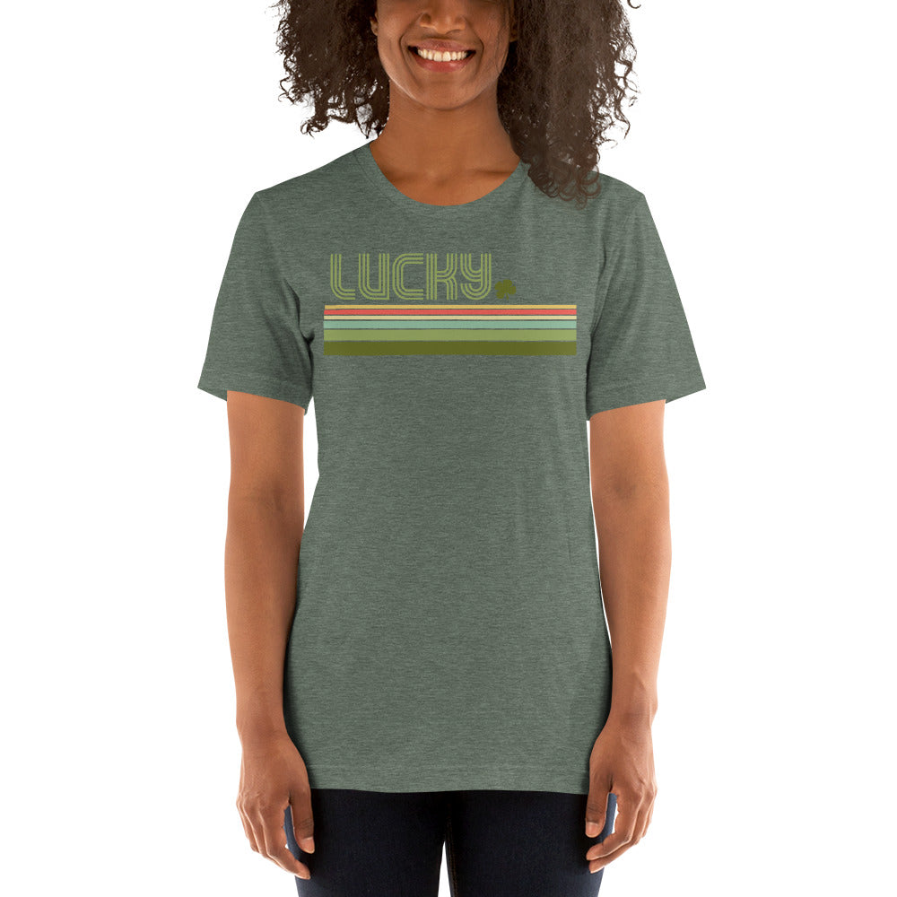 (Soft Unisex Bella - Greens & Others) Lucky Stripes