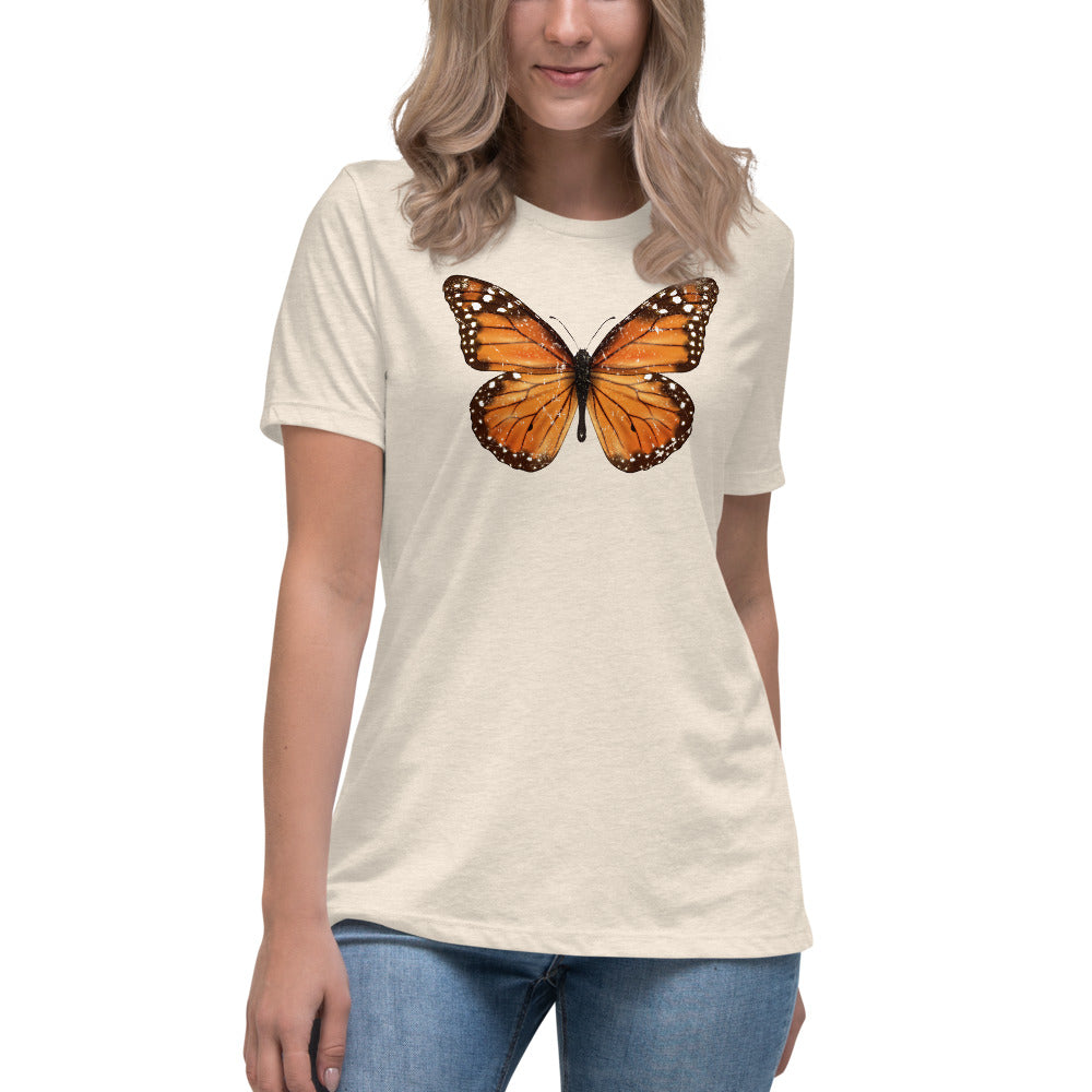 Women's Relaxed Bella Jersy - Monarch Butterfly (orange)
