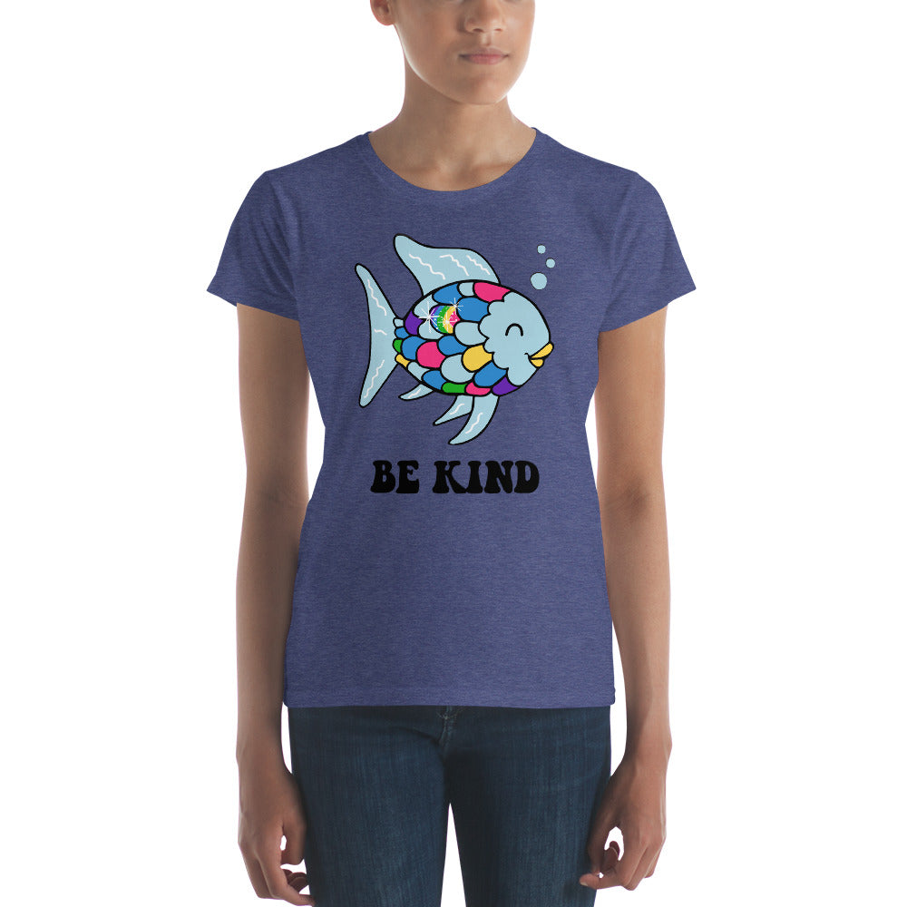 Women's Anvil Tee - Be Kind Fish