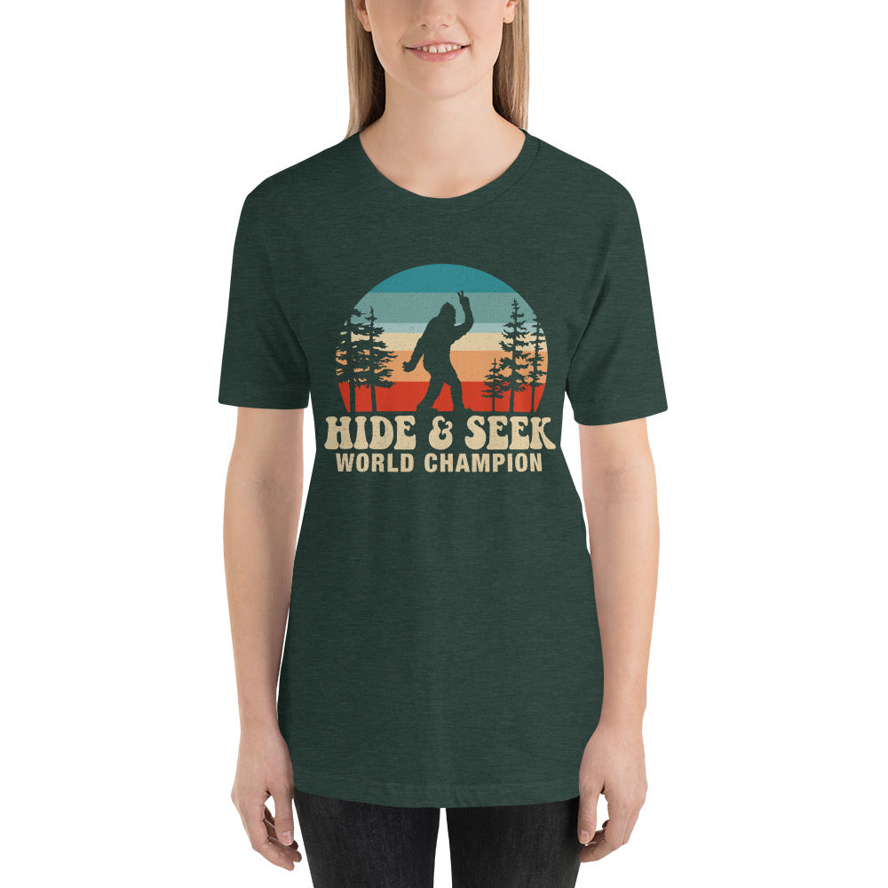 (Soft Unisex Bella - Heather Forest) Hide & Seek Champion
