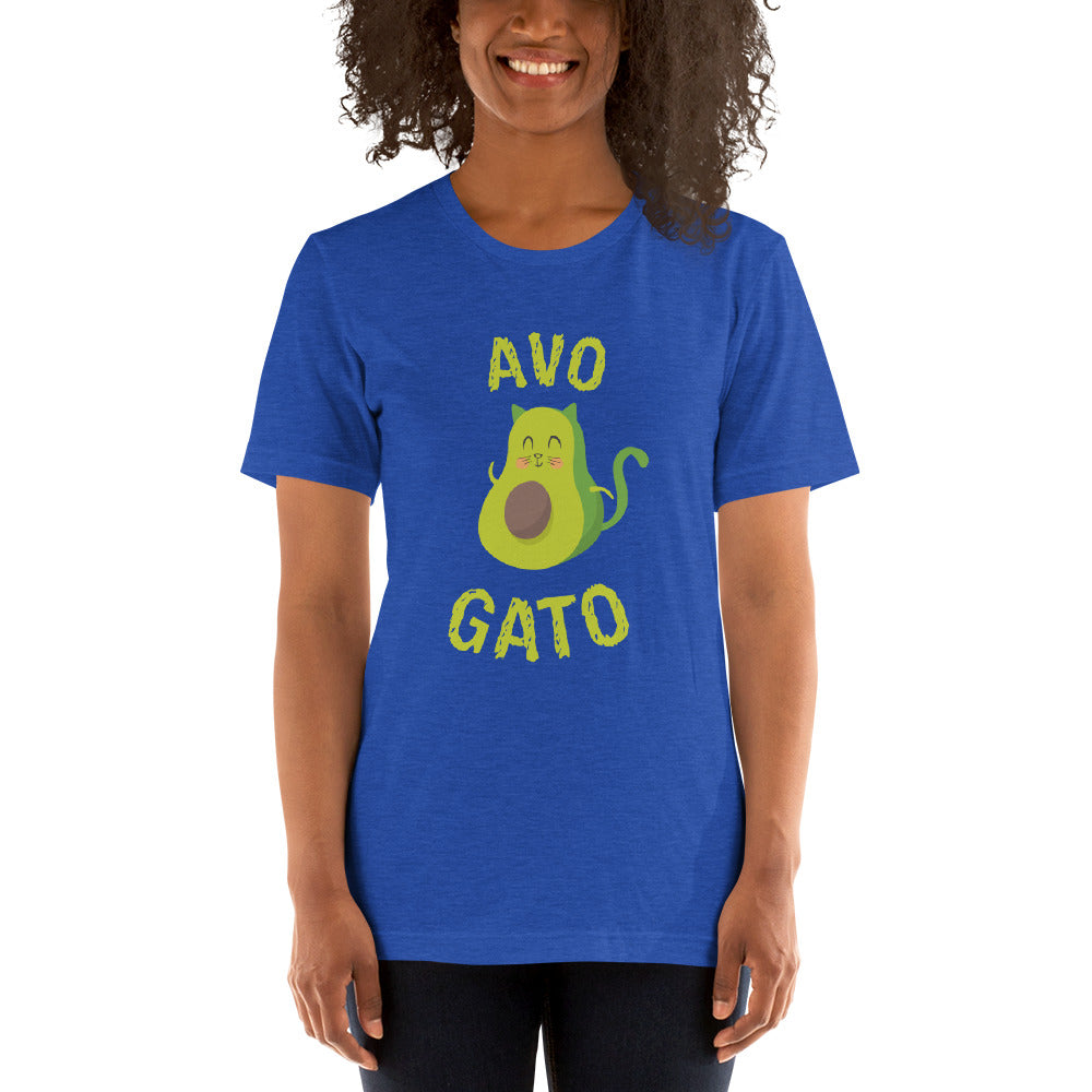 (Soft Unisex Bella) Avo Gato Cat Avocado-Ellas-Canvas-DesIndie