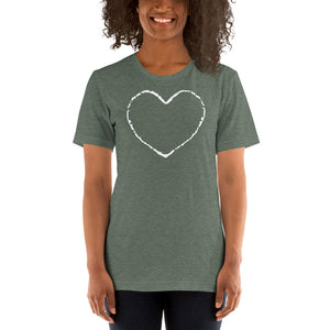 (Soft Unisex Bella - other Colors) Love Heart Chalk