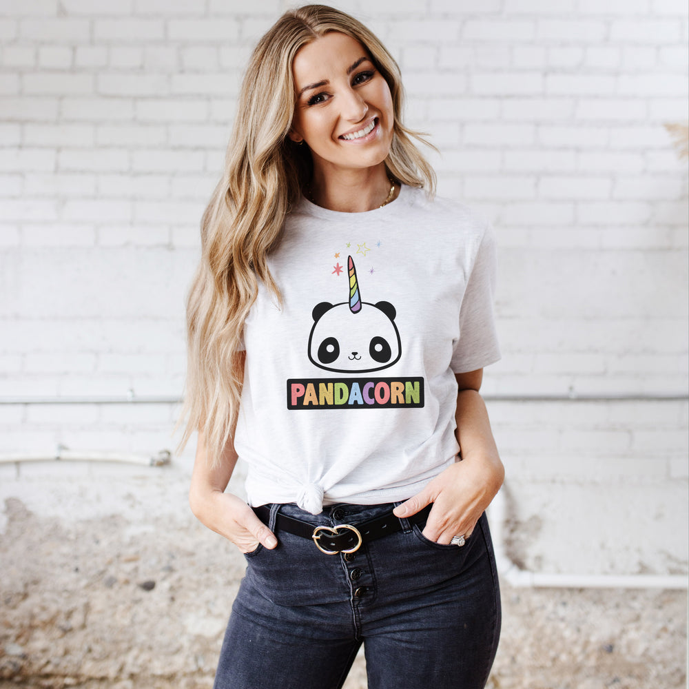 The Original Pandacorn Kawaii Magical Panda Unicorn Design | Adult Women's Unisex T-shirt Tee