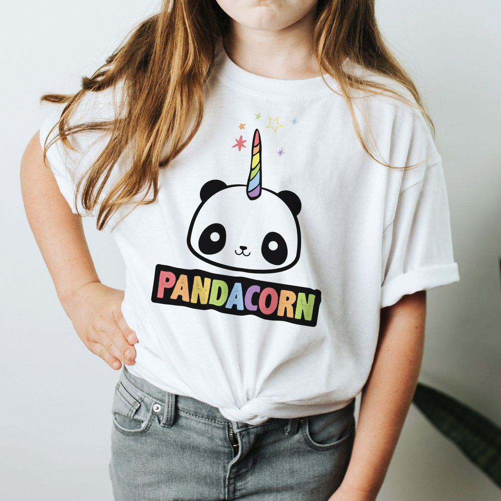 YOUTH | The Original Pandacorn Kawaii Magical Panda Unicorn Design | Youth Unisex T-shirt Tee