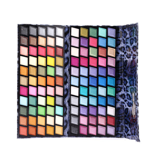 Shimmer Matte Metallic Eye Shadow Palette (Cheetah Print)