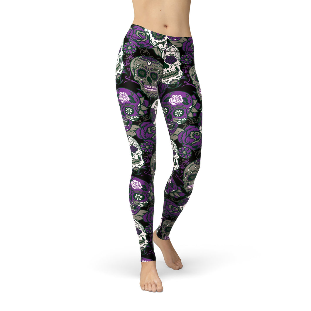 Tonya Purple Sugar Skulls