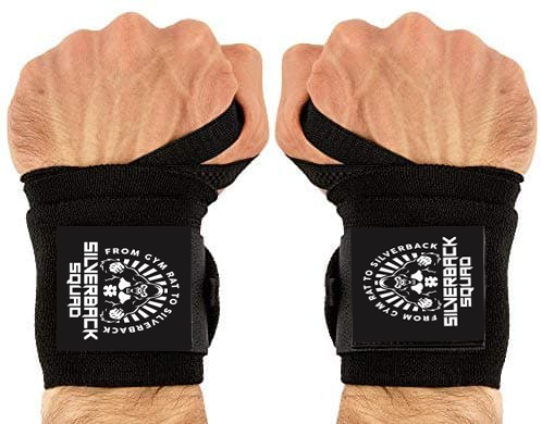 SilverBackSquad Heavy Duty Weightlifting Wrist Wraps