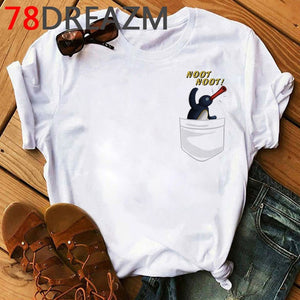 Noot Noot Pingu T Shirt Men Kawaii Cartoon  Hip Hop Anime T-shirt Fuuny Hot Tv Harajuku Nootnoot Graphic 2020 Tops Tees Male