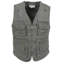 Load image into Gallery viewer, Big Size Fishing Vest Male With Many Pockets Men Sleeveless Jacket Blue Waistcoat Work Vests Outdoors Vest Plus Large Size 10XL