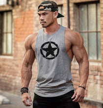 Load image into Gallery viewer, New Fashion Cotton Sleeveless Shirts Tank Top Men Fitness Shirt Mens Singlet Bodybuilding Workout Gym Vest Fitness Men
