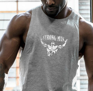 New Fashion Cotton Sleeveless Shirts Tank Top Men Fitness Shirt Mens Singlet Bodybuilding Workout Gym Vest Fitness Men