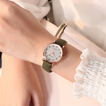Load image into Gallery viewer, Women Watches Simple Vintage Small Dial Watch Sweet Leather Strap Outdoor Sports Wrist Clock Gift