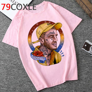 Rip Lil Peep Aesthetic Tshirt Men Lil. Peep Funny Cartoon T-shirt Unisex Cool Streetwear Graphic Tshirt Hip Hop Top Tees Male