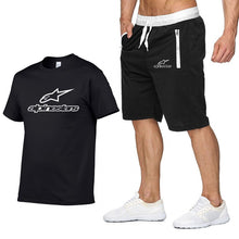 Load image into Gallery viewer, 2020 Fashion t-shirt Shorts Set Men Summer 2pc Tracksuit+Shorts Sets Beach Mens Casual Tee Shirts Set Sportswears