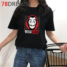 Load image into Gallery viewer, La Casa De Papel T Shirt Men Funny Cartoon Money Heist Tshirt House of Paper Kawaii Anime Bella Ciao Unisex Graphic Tees Male