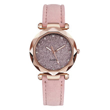 Load image into Gallery viewer, Casual Women Romantic Starry Sky Wrist Watch Leather Rhinestone Designer Ladies Clock Simple Dress Gfit Montre Femme